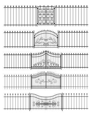 Gates and iron fence horizontal seamless