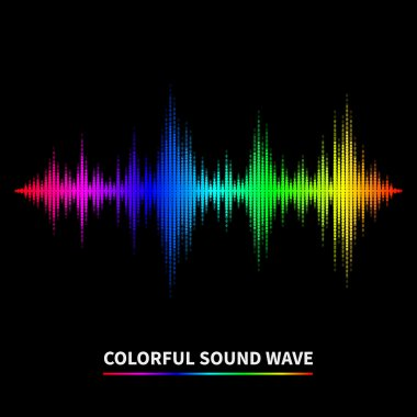 Colorful sound wave background. Equalizer, swing and music. Vector illustration stock vector