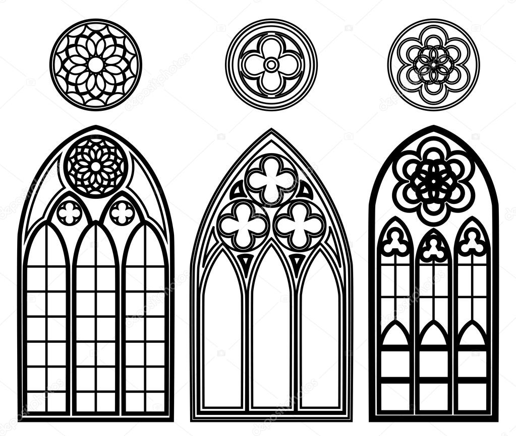 Vitrales Goticos Para Colorear Ventanas Góticas De Las