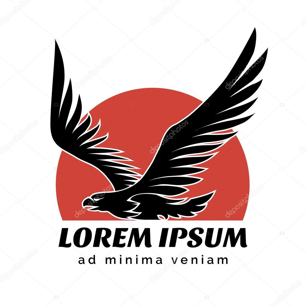 Eagle over Sun logo sign