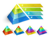 Fotografie Pyramid chart templates