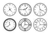 Photo Wall clock vector set