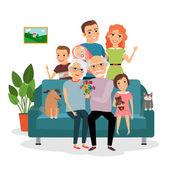 rodina na pohovce