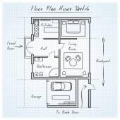 Půdorys domu skica