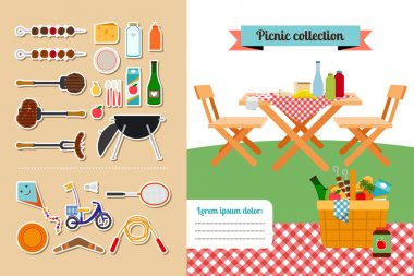 Picnic elements collection