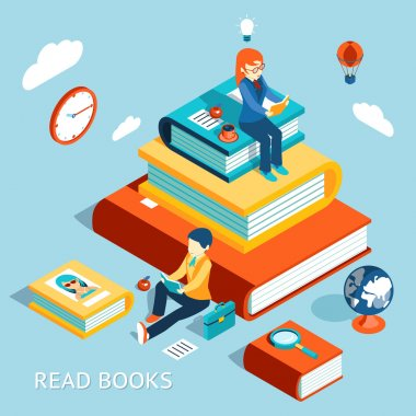 Read books concept