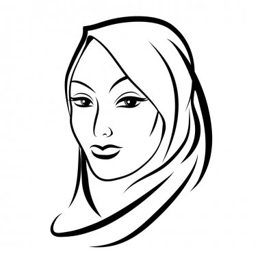 Beautiful arab muslim woman