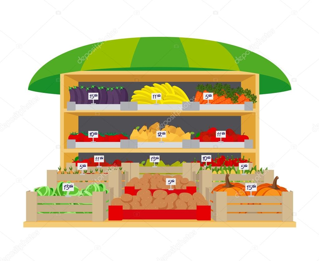 Vegetables and fruits market