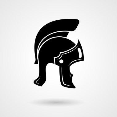 Ancient legionnaire helmet icon logo