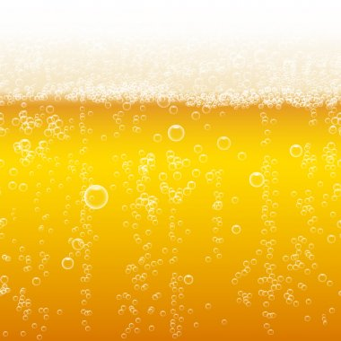 Beer foam background, horizontal seamless beer pattern. Light bright, bubble and liquid, vector illustration stock vector
