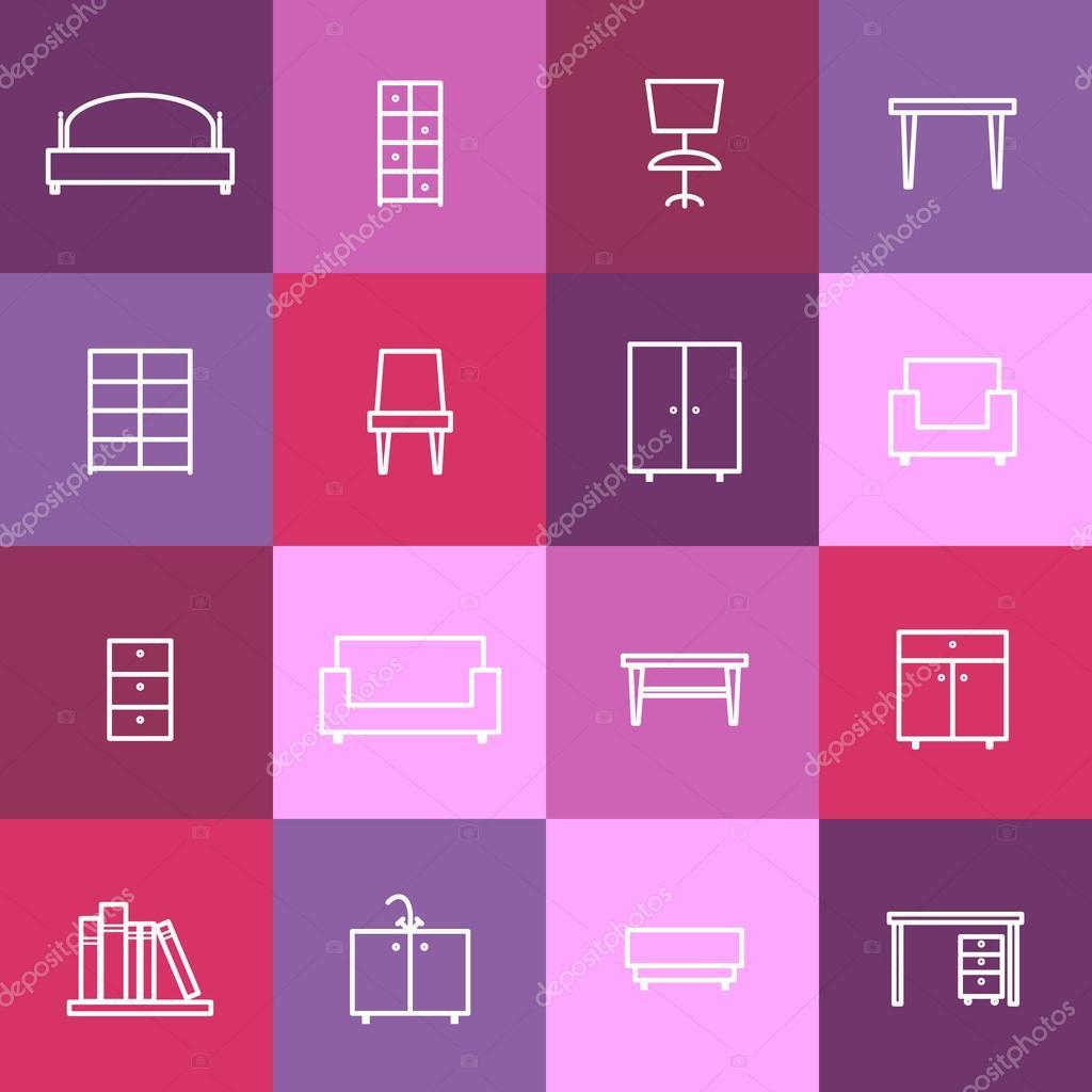 Home interior Symbole — Stockvektor © MSSA #71476335