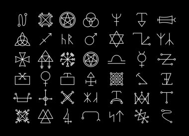 Religion and philosophy, spirituality or occultism icons
