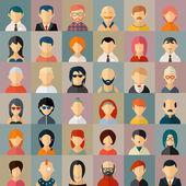 Ikony avatar postava plochá lidí