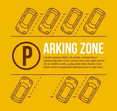 Vector parking lot illustration