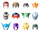 Fényképek Vector super hero masks for face character in flat style