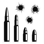 Photo Vector bullet holes