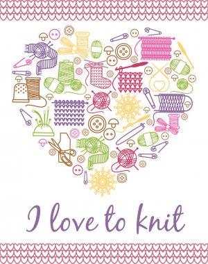 I love knitting heart