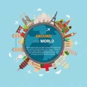 Cestovat po celém světě pohlednice