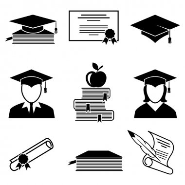 Graduation and education icons