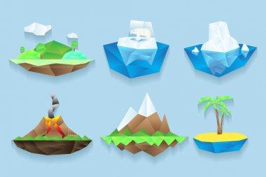 Vector poly islands set