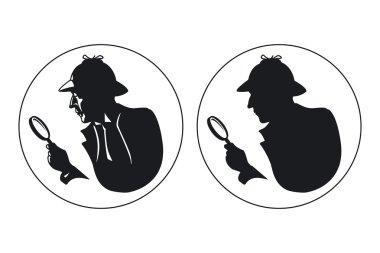 Detective vector silhouette