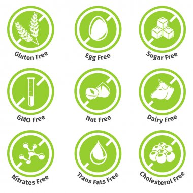 Allergen free products stickers