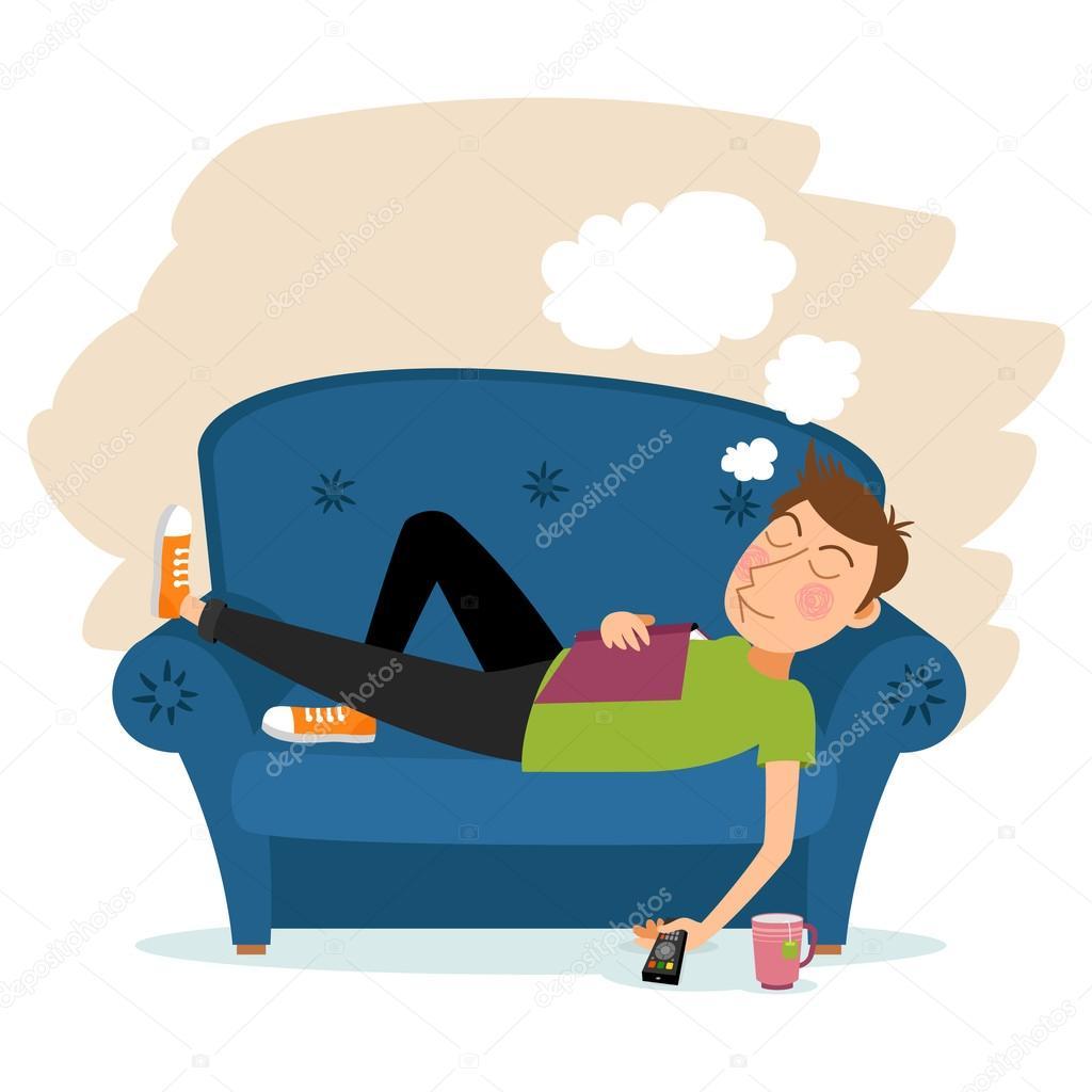 Astounding Man Sleep On Sofa Stock Vector C Mssa 79775730 Ibusinesslaw Wood Chair Design Ideas Ibusinesslaworg