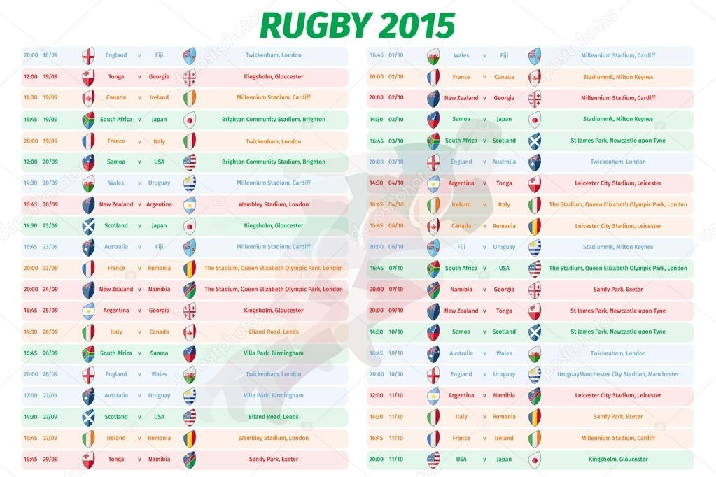 Rugby World Cup Games Schedule