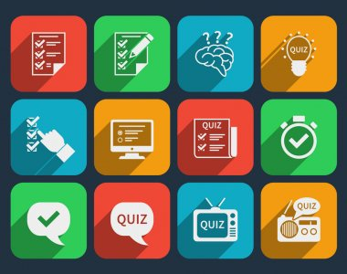 Lottery and quiz icons