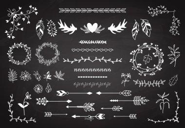 Floral boho element set