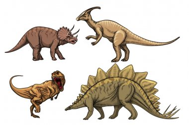 Dinosaurs characters set
