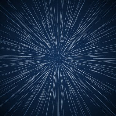 Vector warp stars vector abstract background. Traveling in space concept