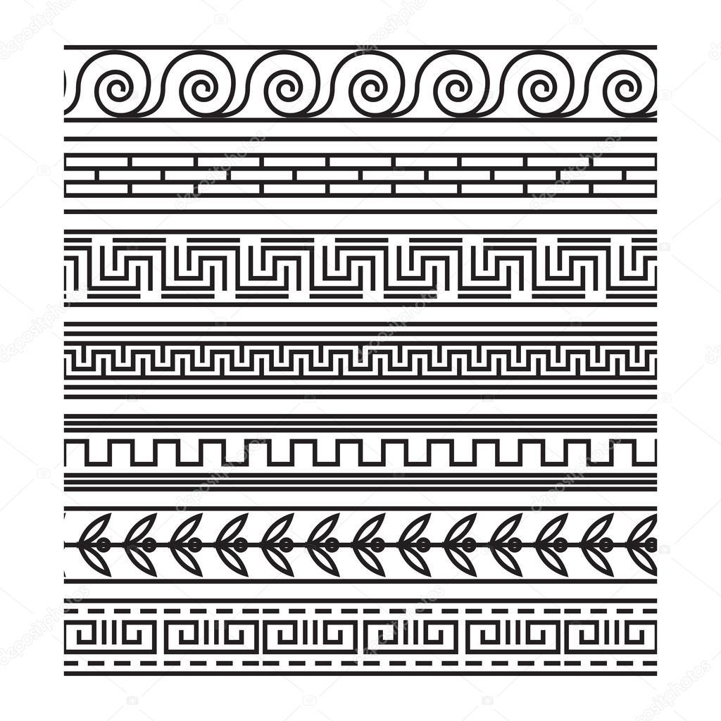 Nahtlose griechischen Häkelanleitung set — Stockvektor © MSSA #89582818