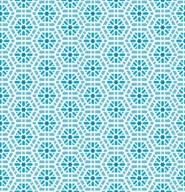 Oriental mosaic seamless pattern. Artwork background, tile ornament, design decoration, vector illustration clip art vector