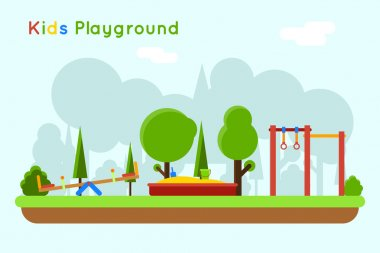 Playground vector background