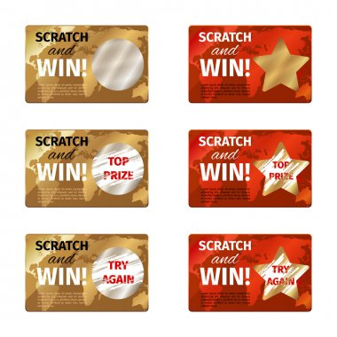 Scratch card vector design template