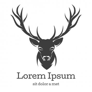 Deer head emblem