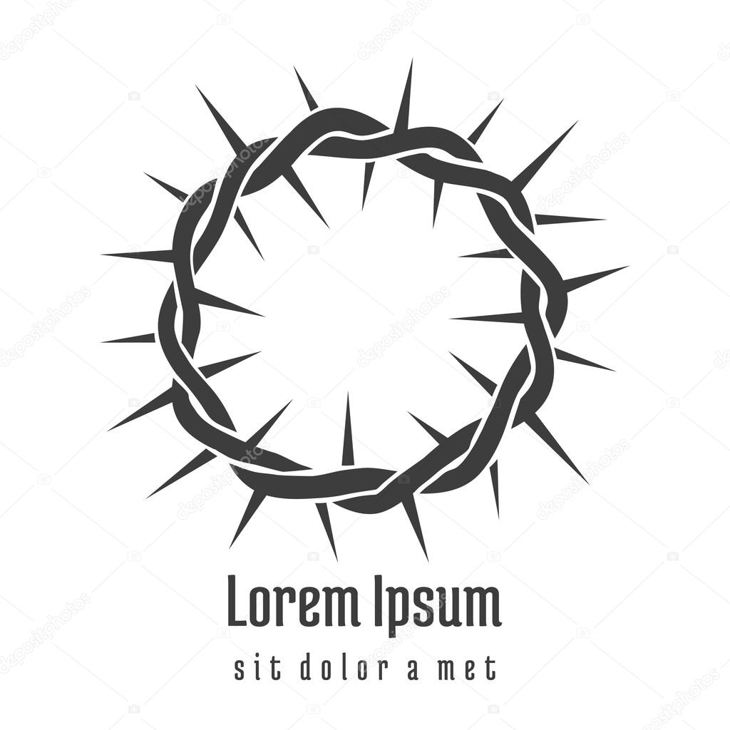 Crown of thorns vector. religious element. Free Vector