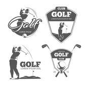 Fotografie Vintage Golf Vektor Etiketten, Abzeichen und Embleme