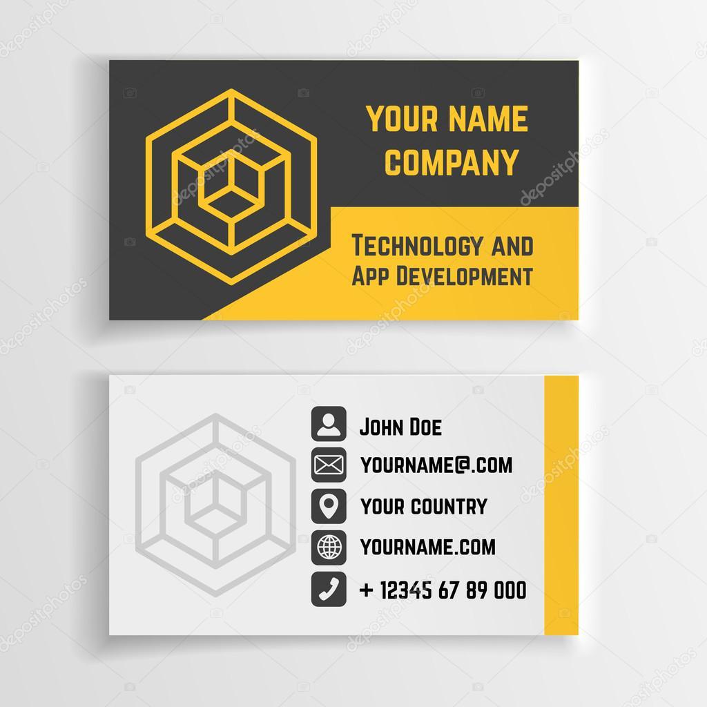 Abstract creative business card vector template with linear logo abstract creative business card vector template with linear logo vetor de stock reheart Choice Image