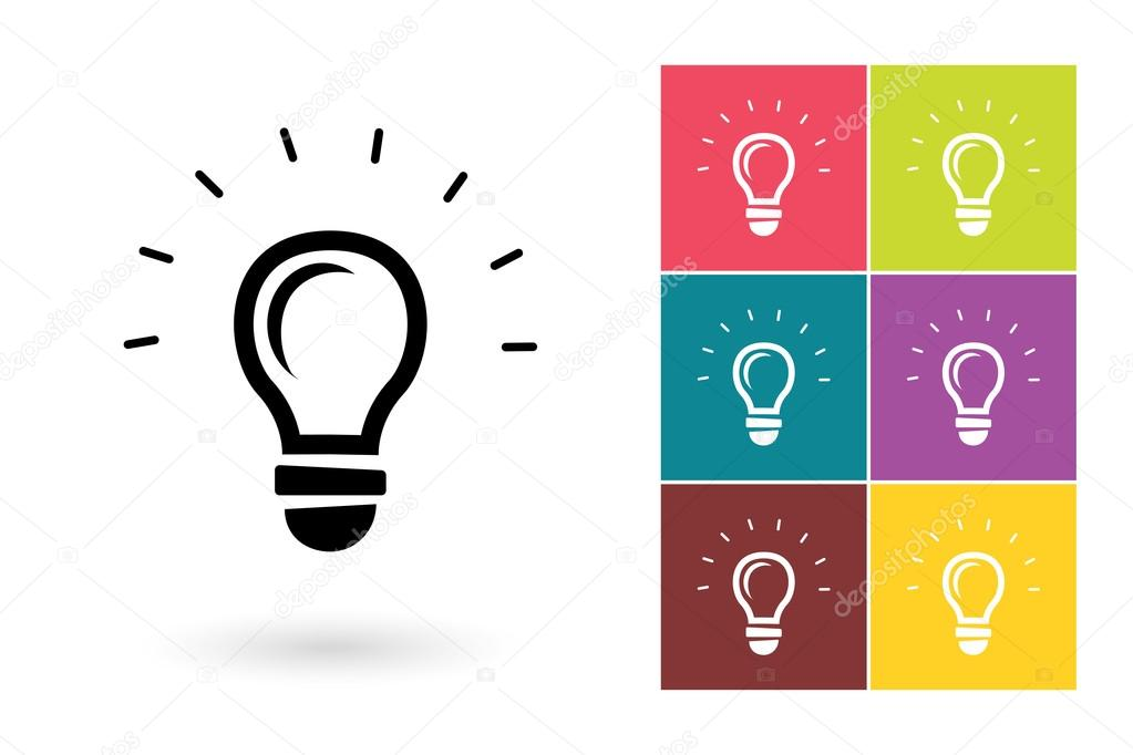 Lampe légère vector icône ou idée symbole — Image vectorielle MSSA © #98997244