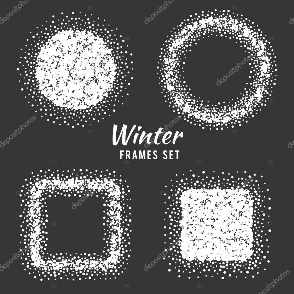 Snow winter frames vector set — Stock Vector © MSSA #99826464