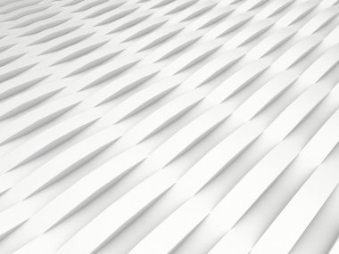 Background of white 3d abstract waves. render stock vector
