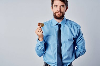 man in shirt with tie finance manager economy investment