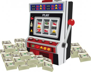 slot machine game machine with curr