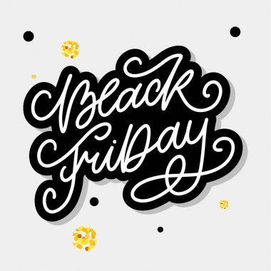 Black Friday Calligraphic Designs Retro Style Elements Vintage Ornaments Sale, Clearance