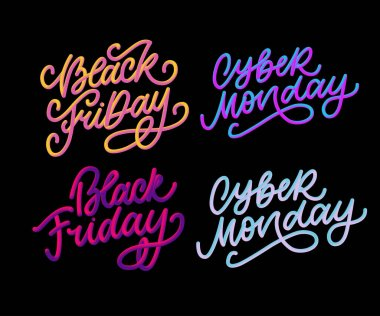 Cyber Monday Vector lettering calligraphy text