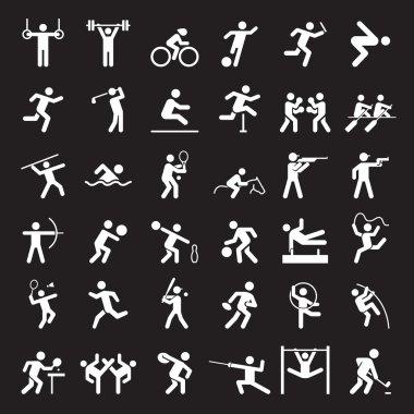 olympic icons black