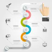 Fotografie Business timeline infographic template.
