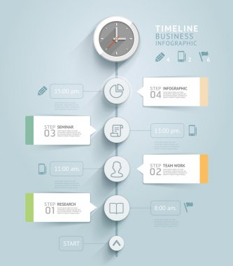 Timeline infographic template.
